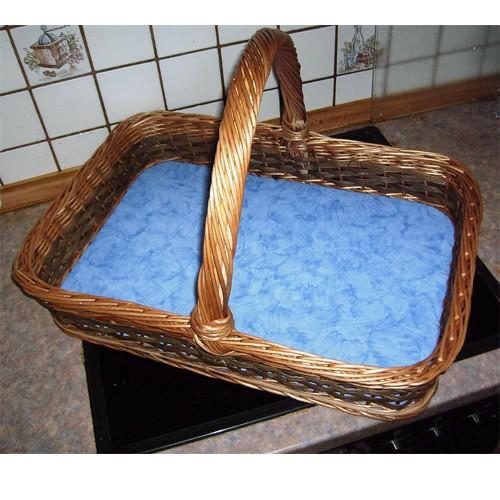 Extra großes Tablett mit Henkel - Deko: blau