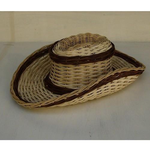 Geflochtener Cowboyhut hell und braun
