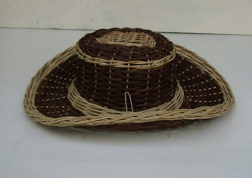 Geflochtener Cowboyhut braun und hell