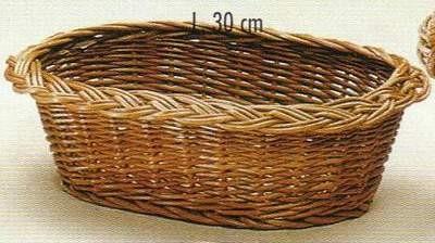Besonders schöne ovale Schale mit Zopf