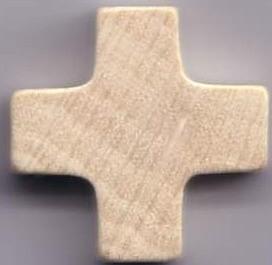 Holzkreuz natur 2,1 cm.