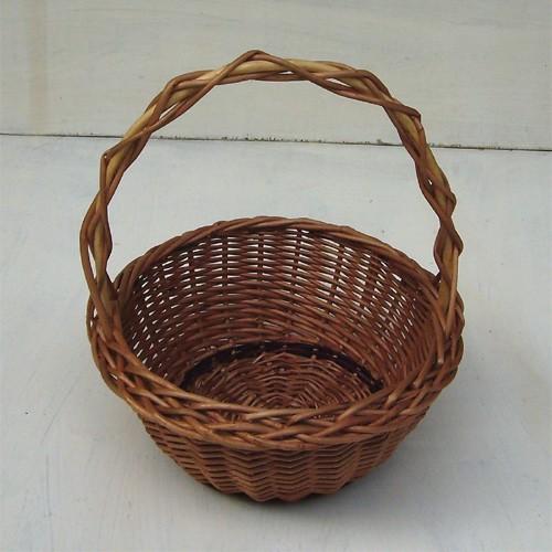 Kleiner runder Kinderkorb, Osterkorb, Geschenkekorb, Hochzeitskorb
