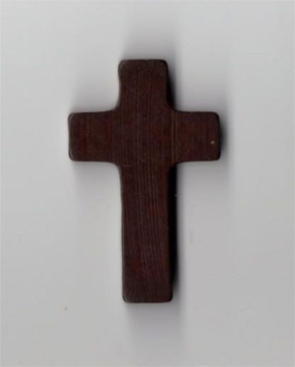 Holzkreuz dunkelbraun 3,5cm