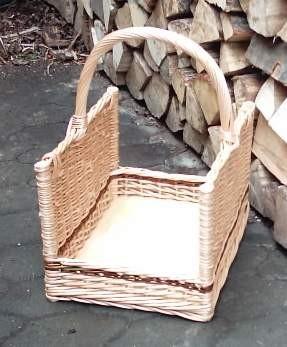 Kaminholzkorb offen mit Holzboden klein