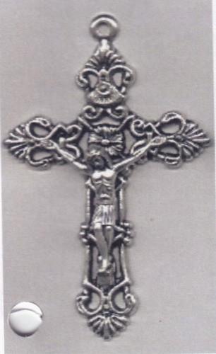 Großes Kreuz aus Metall 5,20 cm mit Korpus.