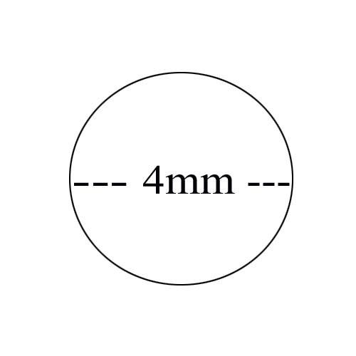 4mm starkes Rundpeddig Meterware als Stöpsel für Achteckgeflecht