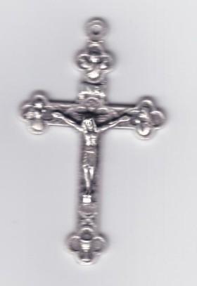 Kreuz aus Metall 4,0 cm mit Korpus.