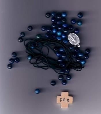 Set für einen Rosenkranz Farbe blau